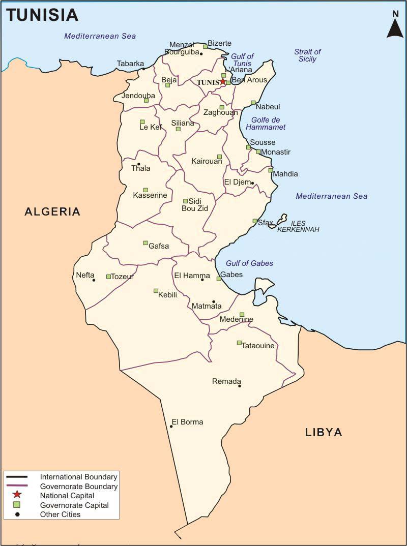 Polozenie Tunezji Afryka Polnocna Tunezja Na Wakacje